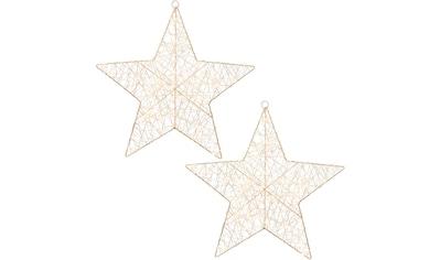 Creativ light LED Stern, 2 St., 2er Set, mit 6h Timerfunktion kaufen