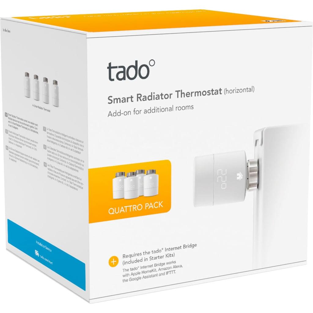Tado Heizkörperthermostat »Smartes Heizkörper-Thermostat - Quattro Pack, Zusatzprodukte für Einzelraumsteuerung«