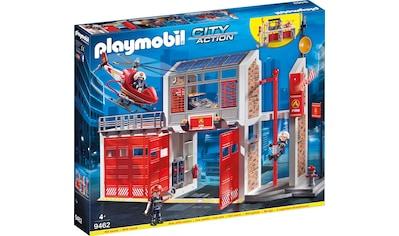 Playmobil® Konstruktions-Spielset »Große Feuerwache (9462), City Action«, Made in Germany kaufen