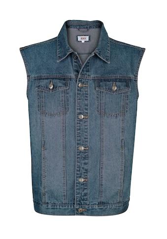 Roger Kent Jeansweste mit leichter Waschung kaufen
