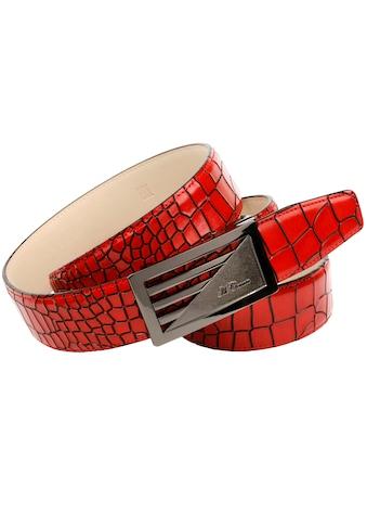 Anthoni Crown Ledergürtel, Kroko-Prägung im tollen Farbton kaufen
