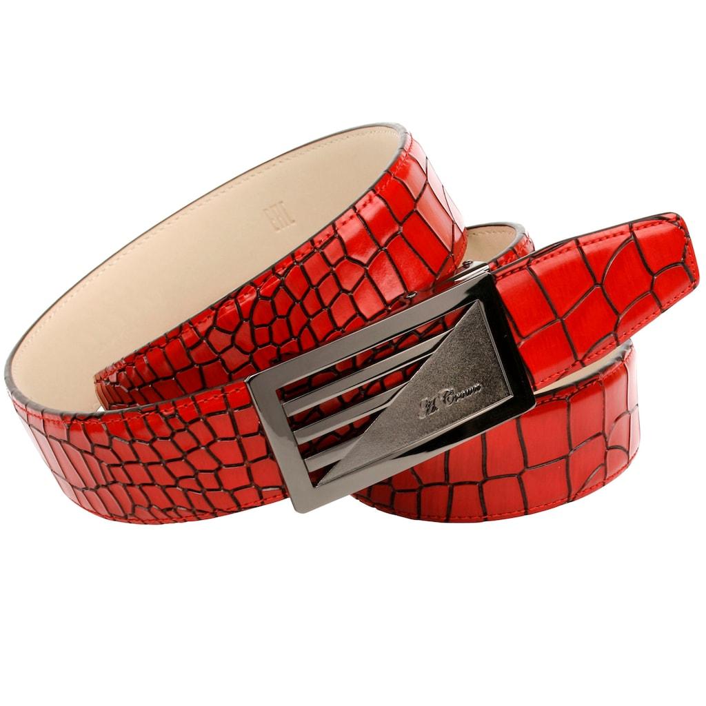 Anthoni Crown Ledergürtel, Kroko-Prägung im tollen Farbton