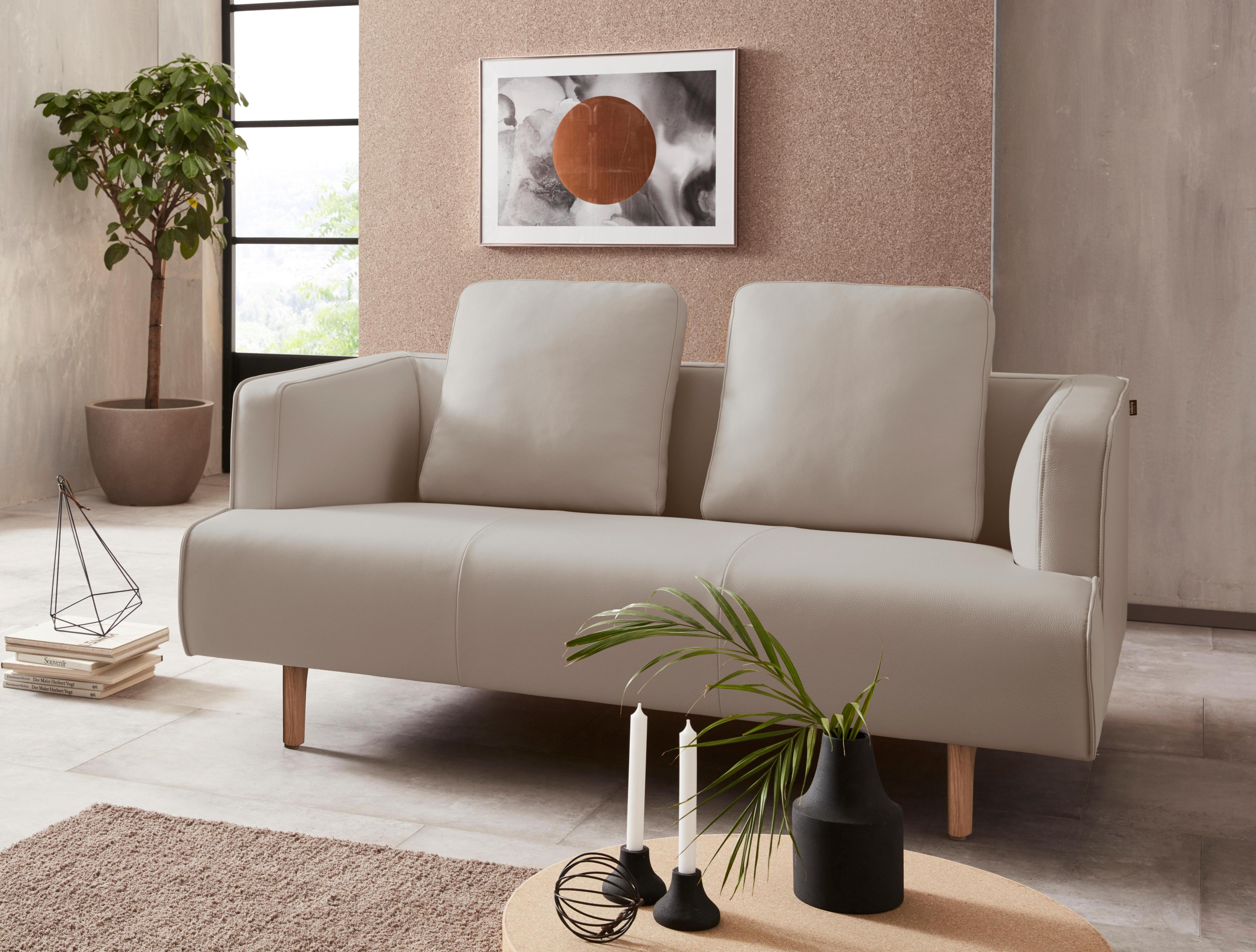 Hülsta Sofa 2 Sitzer Sofa »hs.440« Wahlweise In Stoff Oder Leder, Fuß Eiche  Natur
