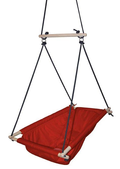 roba Nestschaukel rot Kinder Schaukel Wippen Outdoor-Spielzeug Schaukeln