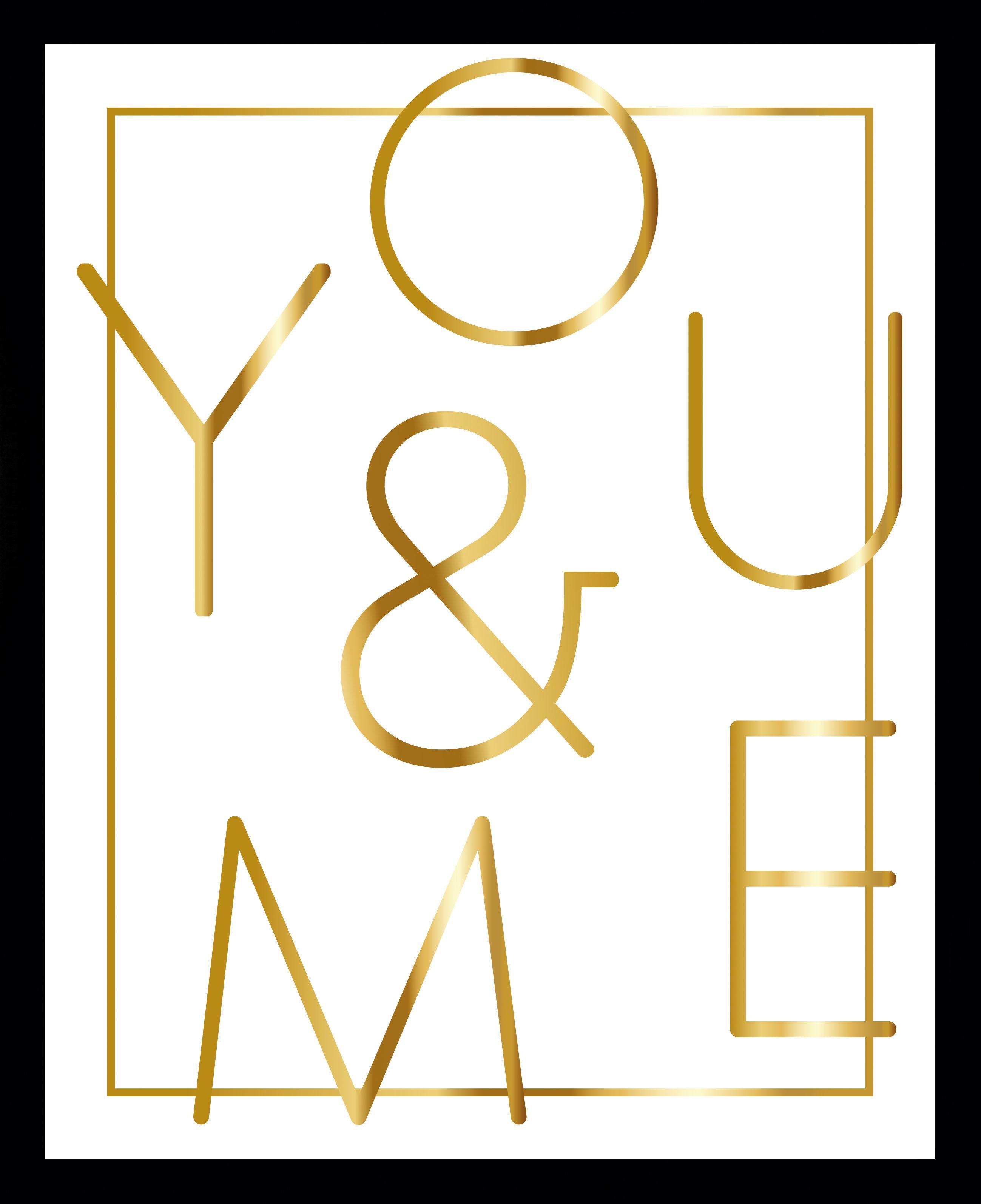G&C Bild YOU & ME WHITE | Dekoration > Bilder und Rahmen > Bilder | Goldfarben | Eisen | G&C