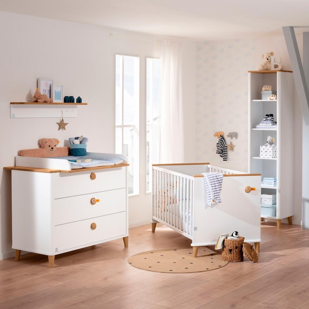 PAIDI Ablageregal »Lotte & Fynn Wandregal, inklusive 3 Garderobenhaken«, (Lotte & Fynn), Steiff by Paidi