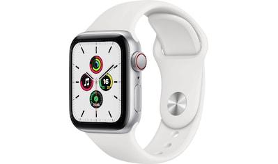 Apple Watch »SE GPS + Cellular, Aluminiumgehäuse mit Sportarmband 40mm«, (inkl.... kaufen