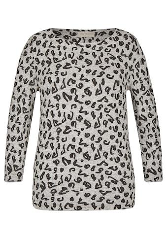 VIA APPIA Trendiger Pullover mit Leo - Print Plus Size kaufen