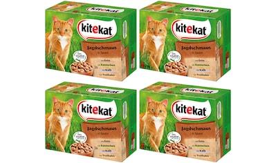 Kitekat Set: Katzennassfutter »Jagdschmaus in Sauce«, 4 Pakete mit je 12 Beuteln á 100 g kaufen