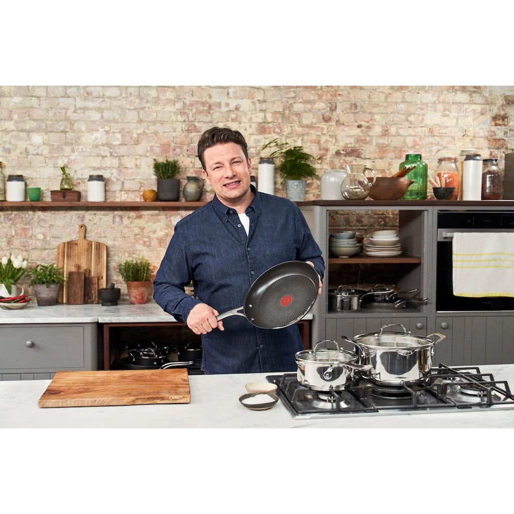 Tefal Pfannen-Set »Jamie Oliver Cook's Direct«, Edelstahl, (3 tlg.), Ø 20/24/28 cm, Induktion