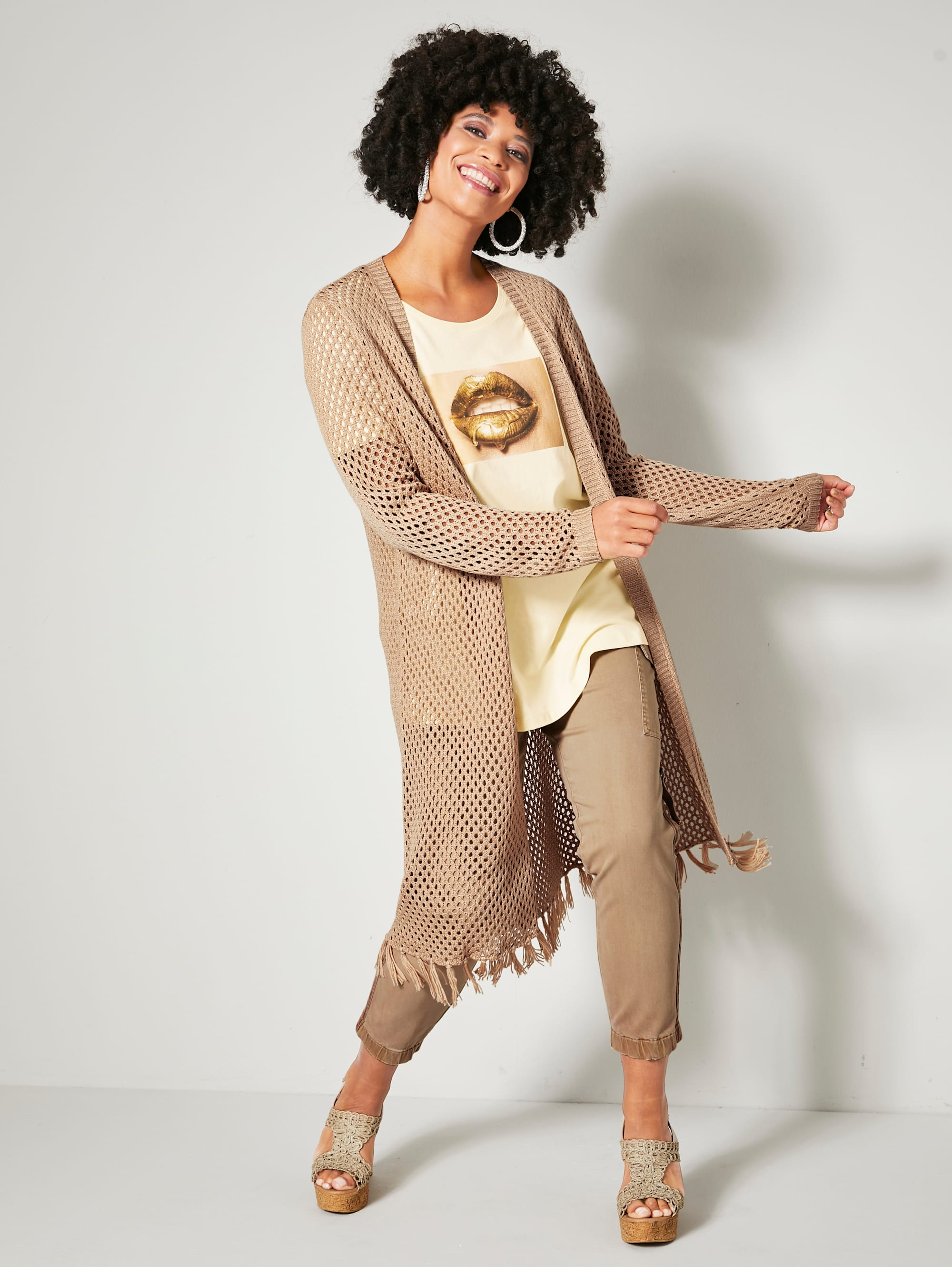 angel of style by happysize -  Cargohose, mit elastischem Saum