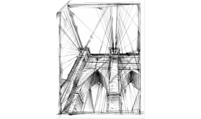 Artland Wandbild »Architekturgrafik Lehre III«, Brücken, (1 St.), in vielen Größen & Produktarten - Alubild / Outdoorbild für den Außenbereich, Leinwandbild, Poster, Wandaufkleber / Wandtattoo auch für Badezimmer geeignet kaufen