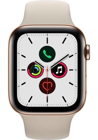 Apple Series 5 GPS + Cellular, Edelstahlgehäuse mit Sportarmband 44mm Watch (Watch OS 6) kaufen
