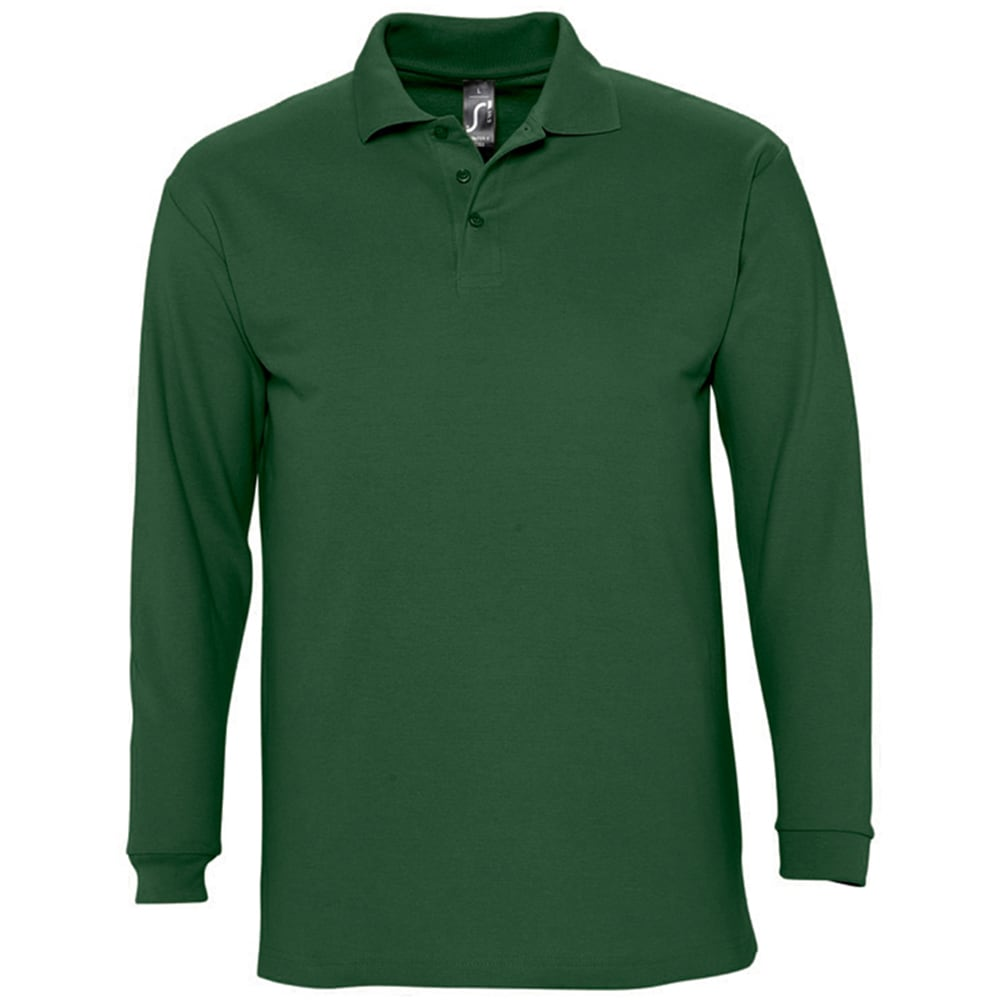 sols -  Poloshirt Herren Winter II Pique Langarm-Shirt / Polo-Shirt Langarm
