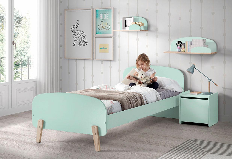 Vipack Kinderbett Kiddy grün Kinder Kinderbetten Kindermöbel