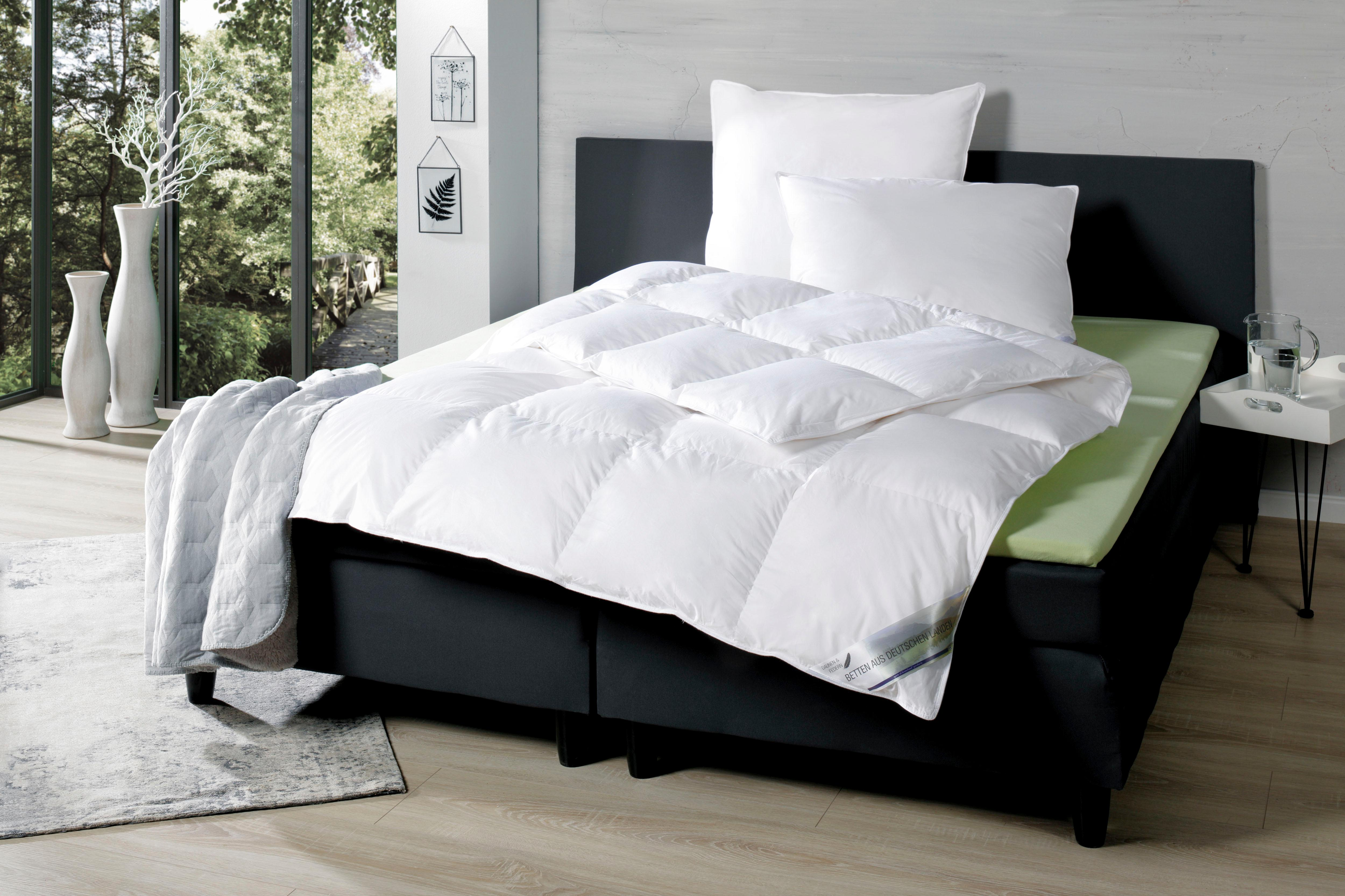 Daunenbettdecke Betten aus Deutschen Landen KBT Bettwaren warm Füllung: 90% Daunen 10% Federn Bezug: 100% Baumwolle