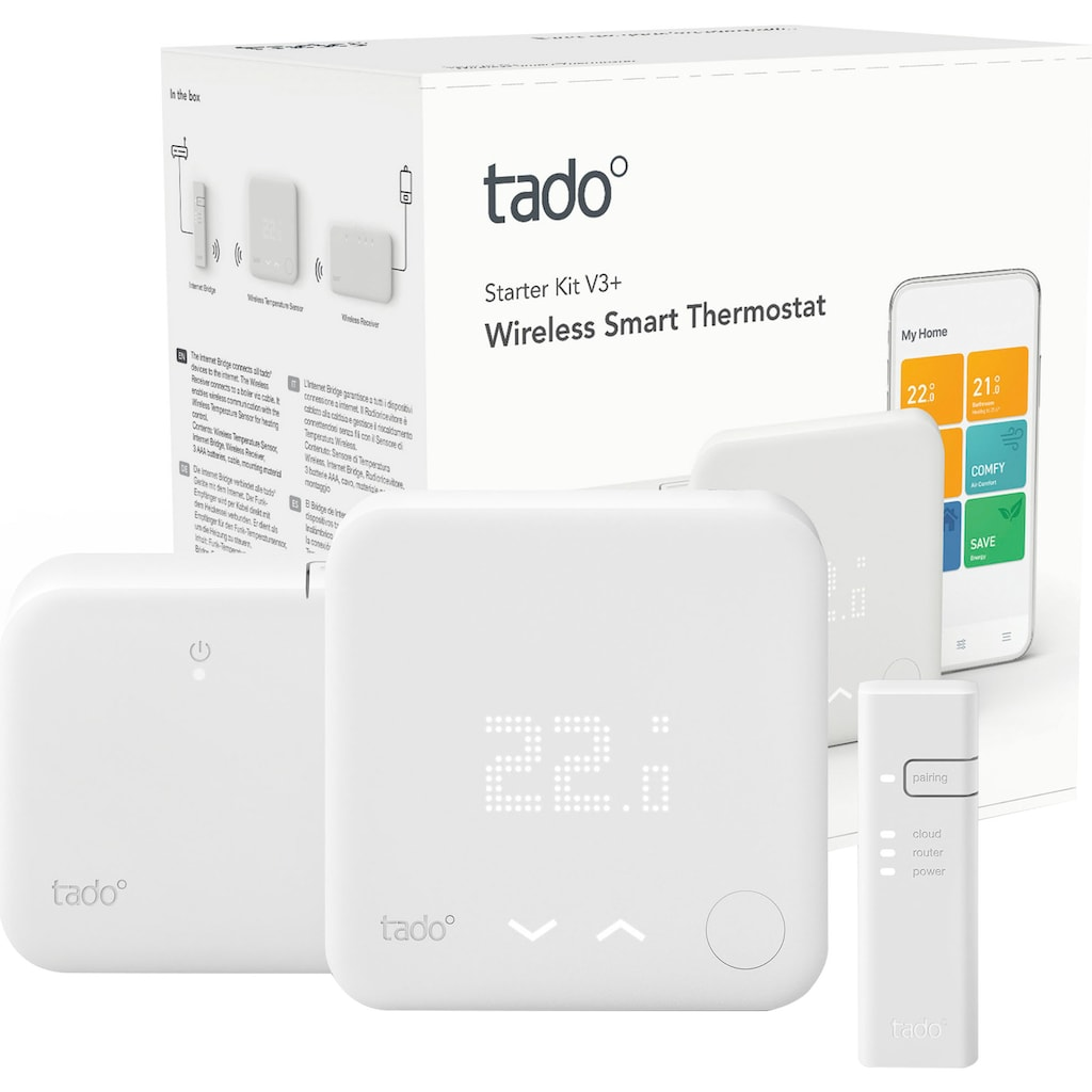 Tado Smart-Home Starter-Set »Wireless Smart Thermostat V3+«