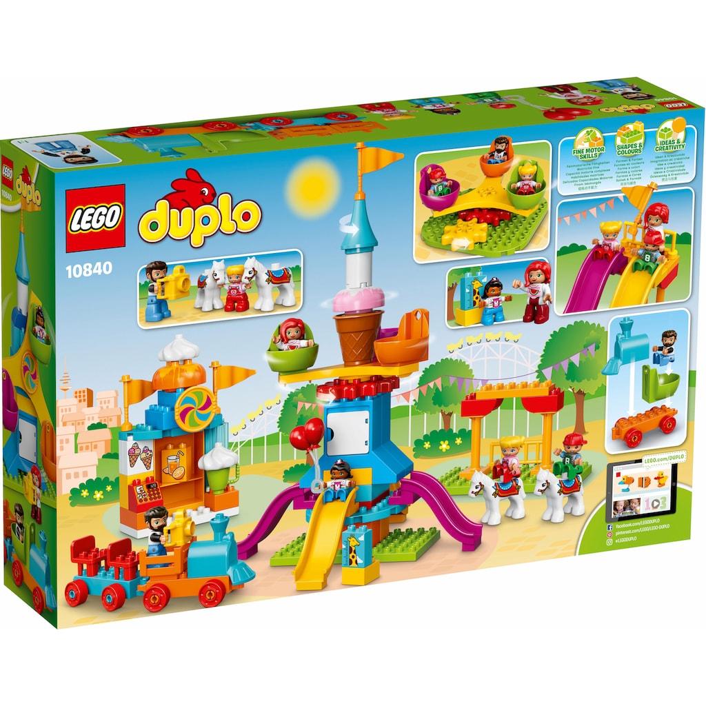 LEGO® Konstruktionsspielsteine »Großer Jahrmarkt (10840), LEGO® DUPLO® Town«, (106 St.)
