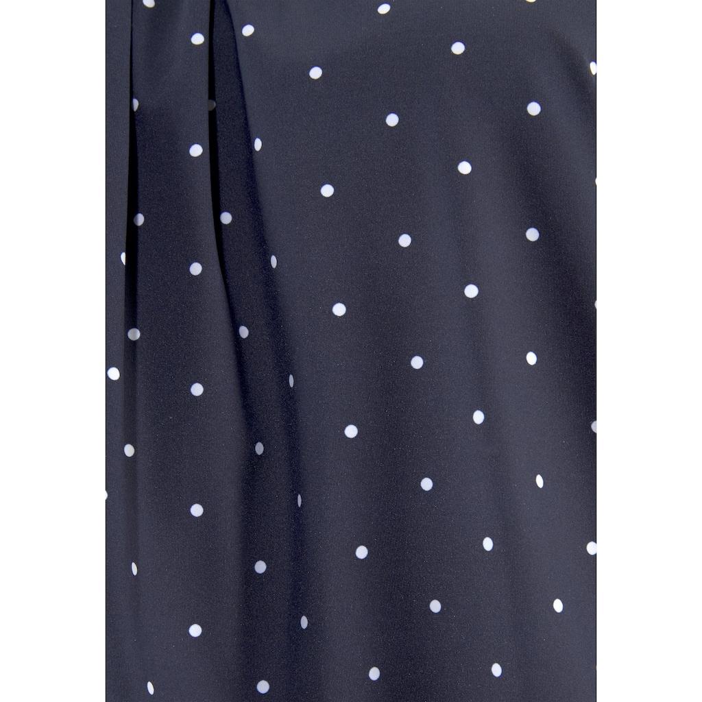LASCANA Oversize-Tankini-Top »Sparkel«, mit klassischen Tupfen