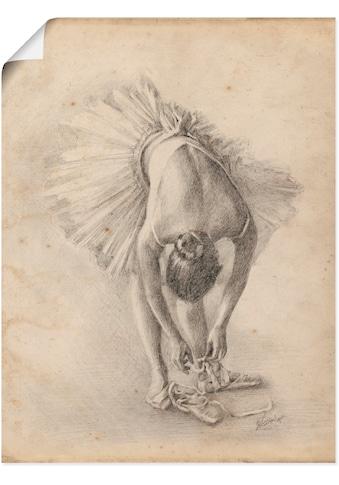 Artland Wandbild »Antike Ballerina Übung I«, Sport, (1 St.), in vielen Größen & Produktarten - Alubild / Outdoorbild für den Außenbereich, Leinwandbild, Poster, Wandaufkleber / Wandtattoo auch für Badezimmer geeignet kaufen