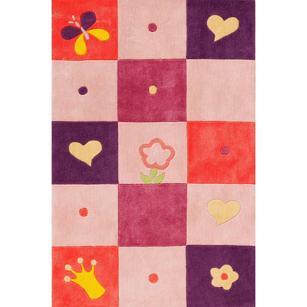 Böing Carpet Kinderteppich »Kids 1366«, rechteckig, 10 mm Höhe, Konturenschnitt