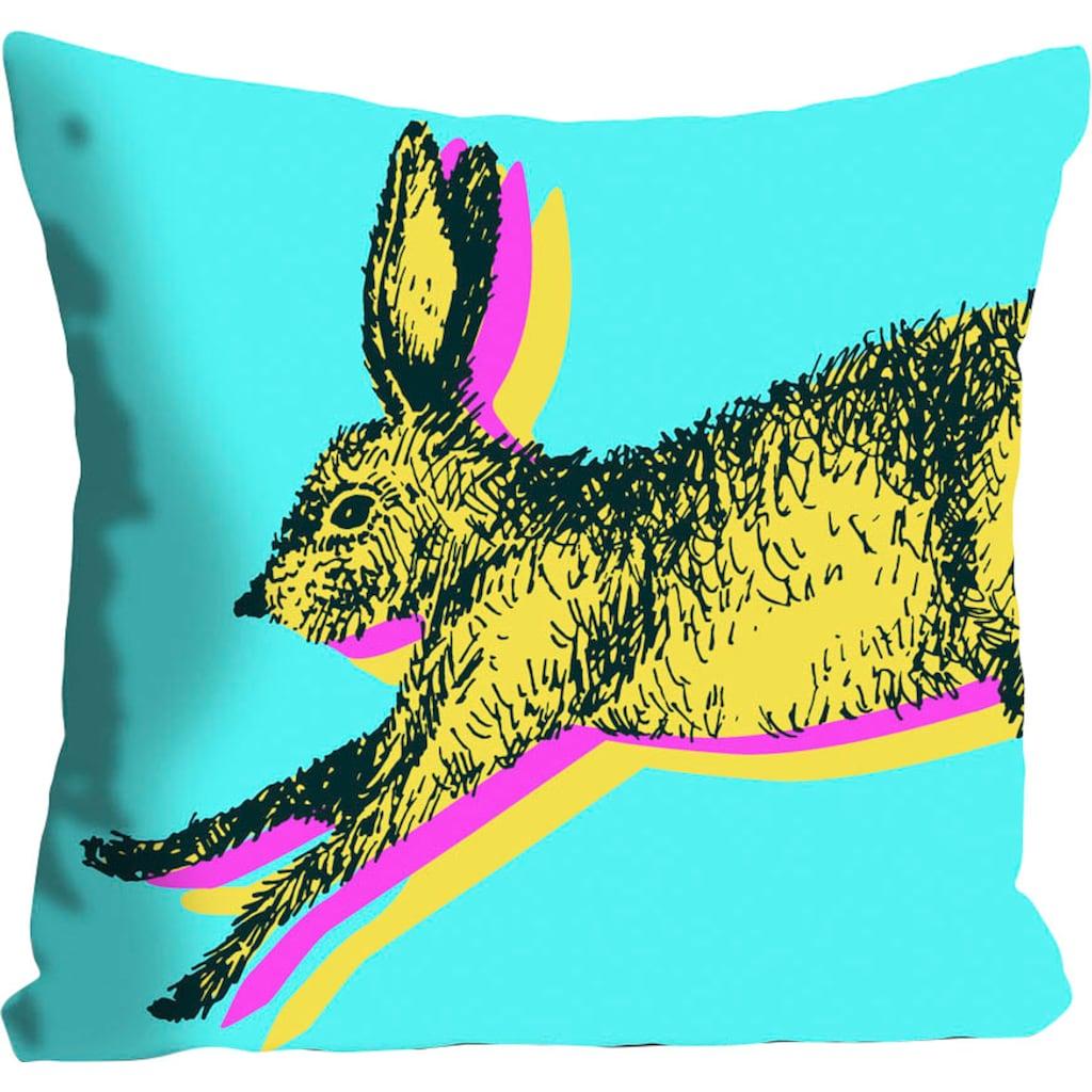 queence Kissenhülle »Funny Bunny«, (1 St.), mit einem funkigen Hasen