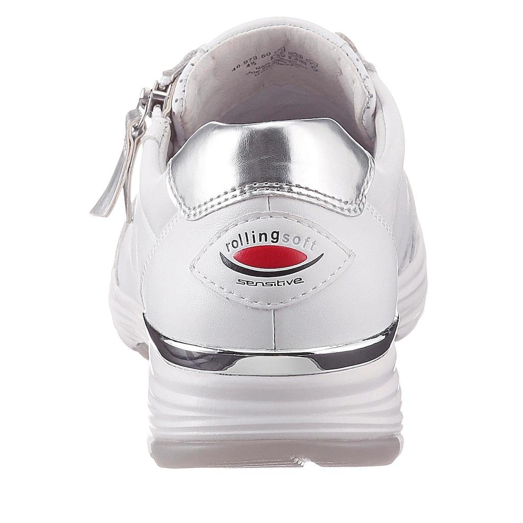 Gabor Rollingsoft Keilsneaker, mit Metallicdetails