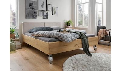 WIEMANN Holzbett »Bari«, mit Polsterkopfteil und 4-facher Liegehöhenverstellung kaufen