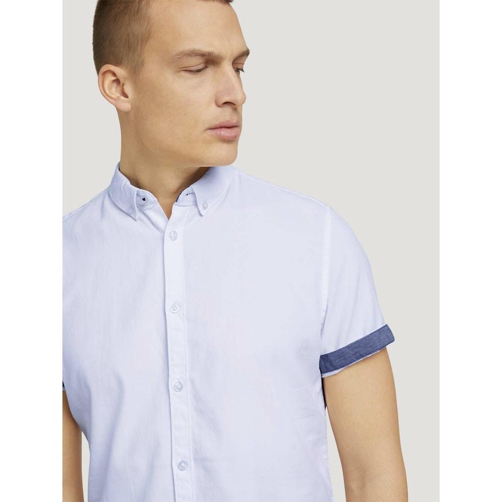 TOM TAILOR Kurzarmhemd »Strukturiertes Kurzarmhemd mit Bio-Baumwolle«