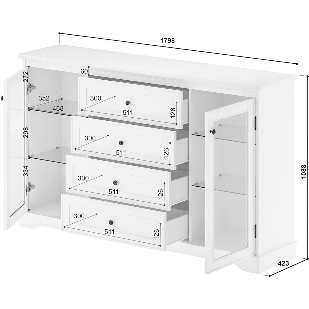 Home affaire Sideboard »Bigge«, 4 Schubladen