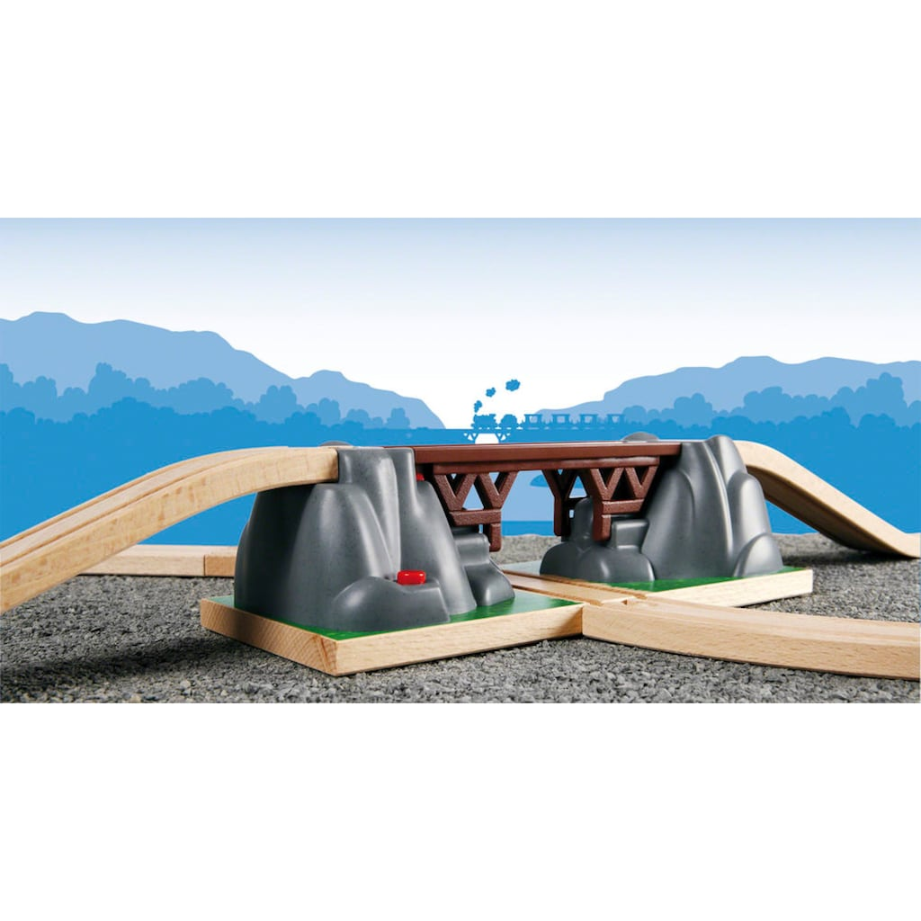 BRIO® Spielzeugeisenbahn-Brücke »BRIO® WORLD Einsturzbrücke«, FSC®-Holz aus gewissenhaft bewirtschafteten Wäldern