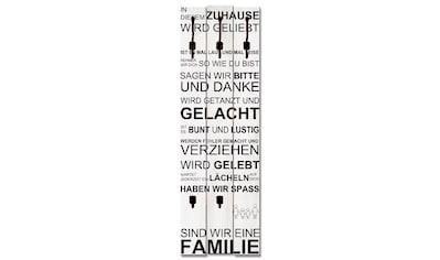 Artland Garderobenpaneel »In diesem Zuhause_weiß«, platzsparende Wandgarderobe aus... kaufen