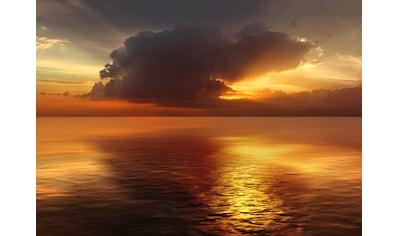 Papermoon Fototapete »Sonnenuntergang im Ozean«, Vliestapete, hochwertiger Digitaldruck kaufen