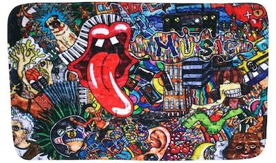 Sanilo Badematte »Graffiti«, Höhe 15 mm, schnell trocknend, Memory Schaum kaufen