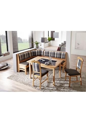SCHÖSSWENDER Essgruppe »Tulln«, Eckbank ist umstellbar, Eckbank hat eine Truhe, Tisch mit Auszug 120(160) cm kaufen