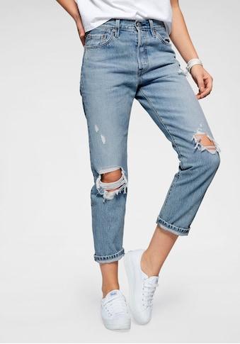 Levi's® Destroyed-Jeans »501«, Verkürzte Form mit Destroyed-Effekten kaufen