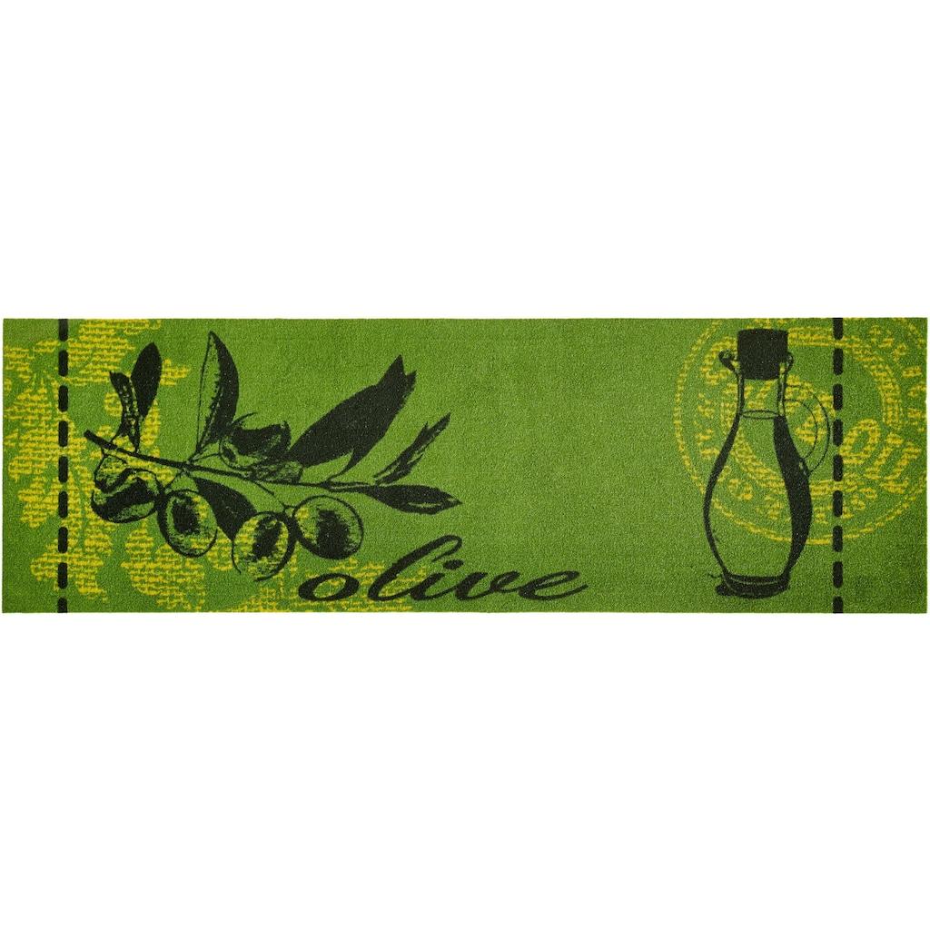 Zala Living Küchenläufer »Olive«, rechteckig, 5 mm Höhe, waschbar