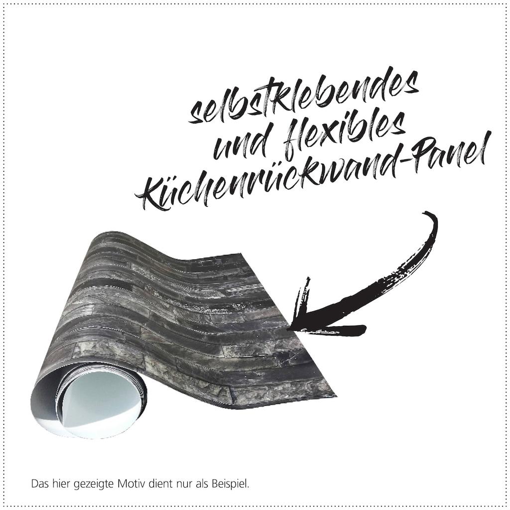 MySpotti Küchenrückwand »fixy Chesterfield«, selbstklebende und flexible Küchenrückwand-Folie