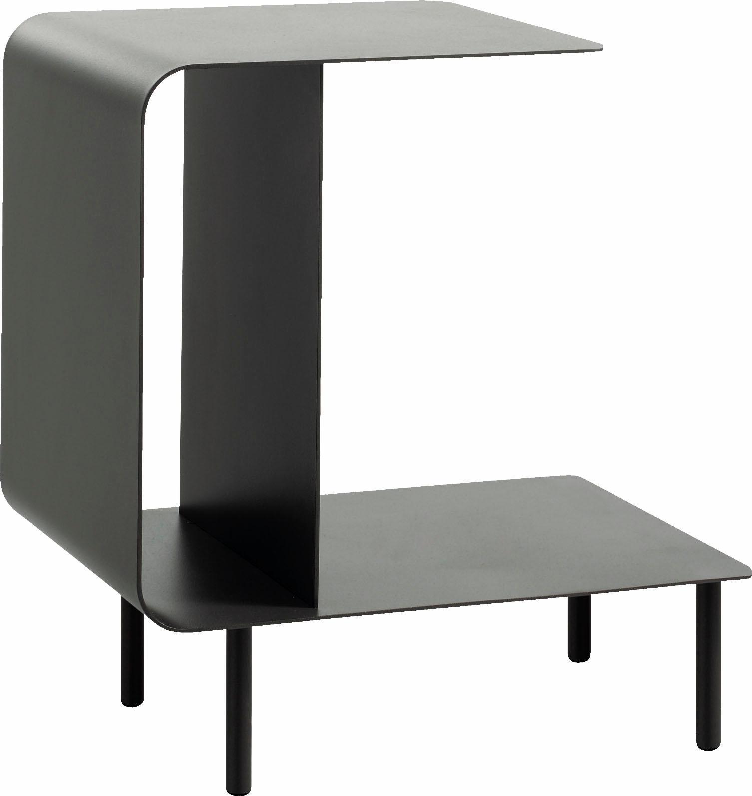 hülsta Beistelltisch MULTI -VARIS 03, aus Metall, Höhe 52 cm grau Beistelltische Tische