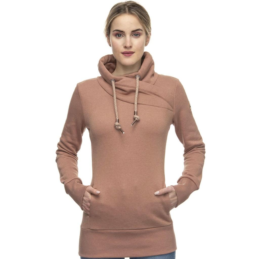 Ragwear Plus Sweater »NESKA PLUS«, lädt zum Kuscheln ein, mit breiten Rippstrickbündchen