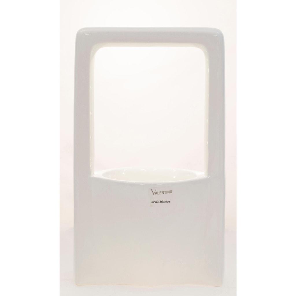 VALENTINO Wohnideen Pflanzschale »Malibu«, (1 St.), mit LED Beleuchtung, Höhe ca. 33 cm