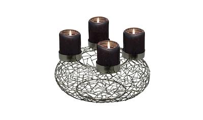 EDZARD Adventskranz »Milano«, Kerzenhalter für Stumpenkerzen, Tischdeko,... kaufen