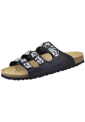Sandale »560012«, Bioline Lady Pantolette schw/weiß kaufen