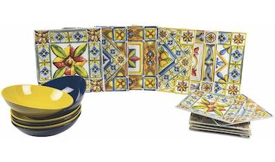 Villa d'Este Teller-Set »Costiera«, (18 tlg.), Tafelservice 18-teilig für 6 Personen kaufen