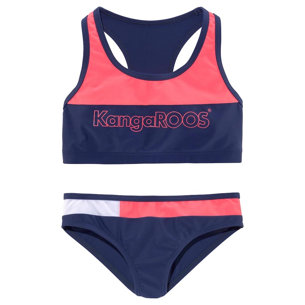 KangaROOS Bustier-Bikini, (1 St.), im Colourblocking-Design