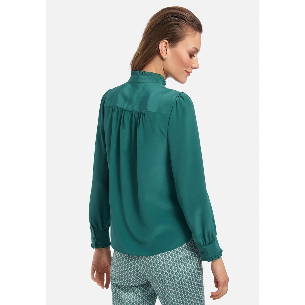 Uta Raasch Langarmbluse »Bluse aus 100% Seide«, mit Rüschen