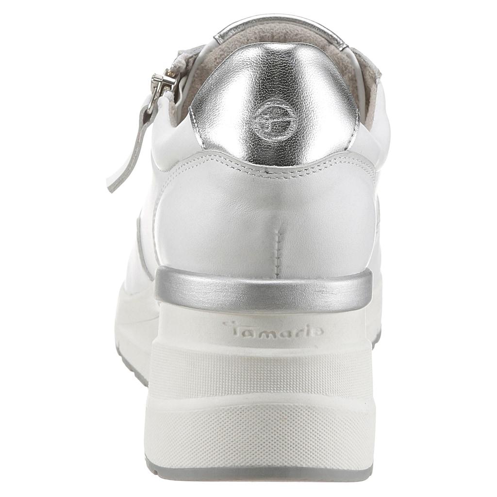 Tamaris Wedgesneaker, mit praktischem Reißverschluss