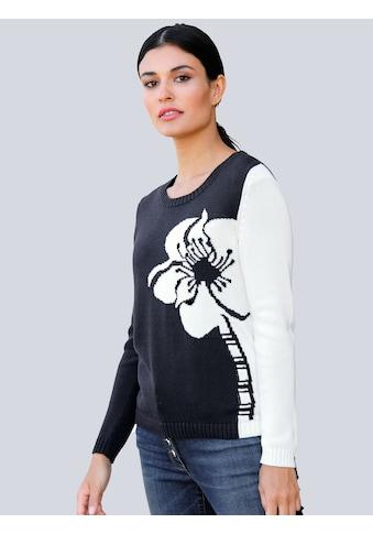 Alba Moda Pullover mit Blumenmotiv kaufen