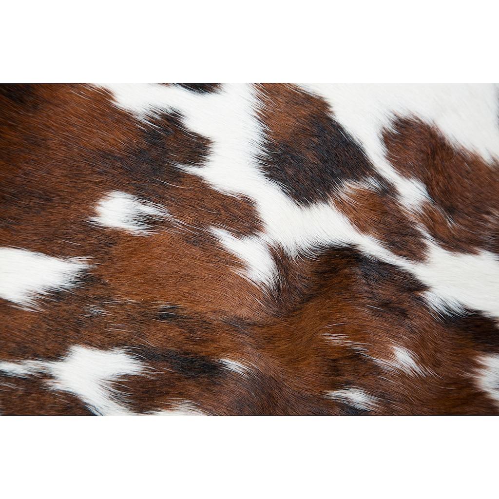 Trendline Fellteppich »Spots Natur«, fellförmig, 3 mm Höhe, echtes Rinderfell, Naturprodukt - daher ist jedes Rinderfell ein Einzelstück, Wohnzimmer
