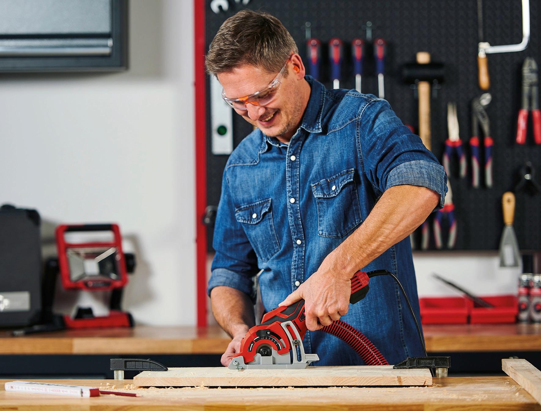 Einhell Handkreissäge Mini-Handkreissäge TC-CS 89 rot Sägen Werkzeug Maschinen